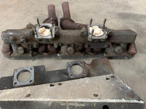 Restoration Austin Healey SU carburateurs en spruitstuk